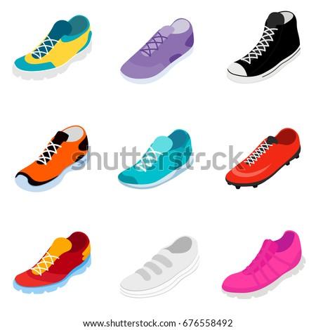 yeni · uygunluk · ayarlamak · moda · ayakkabı - stok fotoğraf © popaukropa