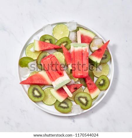 フルーツ ベリー 食欲をそそる 氷 キャンディー スライス ストックフォト © artjazz