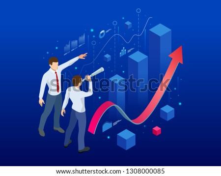 Affiliate business flat isometric vector conceptual illustration. Stock photo © TarikVision