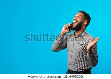 empresário · punho · falante · telefone · móvel · homem · tecnologia - foto stock © feedough