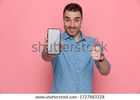 Stockfoto: Portret · zakenman · teken · tonen