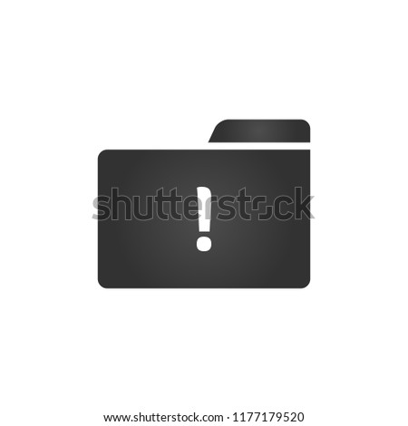 Folder Icon with exclemation mark in trendy flat style isolated on white background, for your web si Stock photo © kyryloff