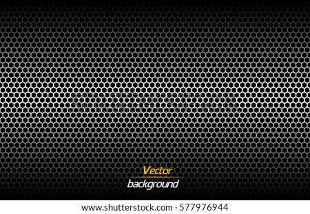 structured dark metallic perforated background technology vector illustration stock photo © kurkalukas