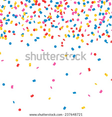 Happy Children And Christmas Gifts Falling With Confetti From The Sky Vector. Illustration Stock photo © pikepicture