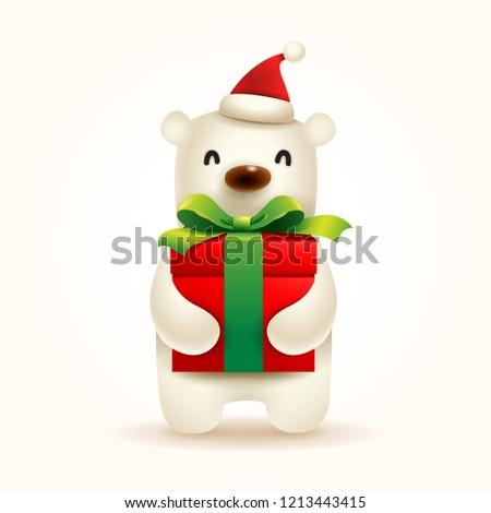 jegesmedve · rajz · illusztráció · vicces · fehér · boldog - stock fotó © ori-artiste