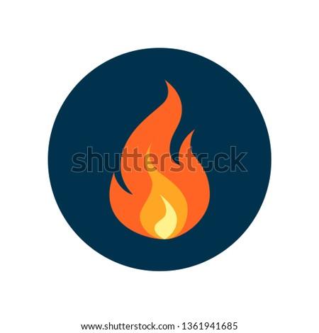 Blauw brand icon vlam kampvuur geïsoleerd Stockfoto © MarySan