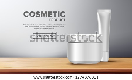 Cosmetic Bottle Ads Vector. Spray, Cream. Liquid Soup, Shampoo. Lotion, Gel. Premium Product. 3D Moc Stock photo © pikepicture