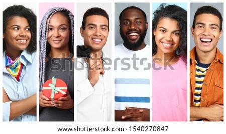 Fotografia · szczęśliwy · para · kolorowy · ubrania - zdjęcia stock © deandrobot