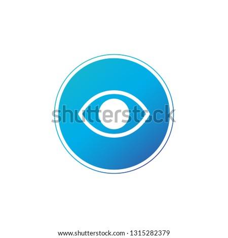 Egyszerű minimalista szem ikon kör háló Stock fotó © kyryloff