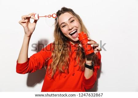 Kép imádnivaló nő 20-as évek visel piros Stock fotó © deandrobot