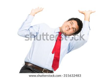 Adulte homme d'affaires stress pression bureau utilisant un ordinateur portable Photo stock © diego_cervo