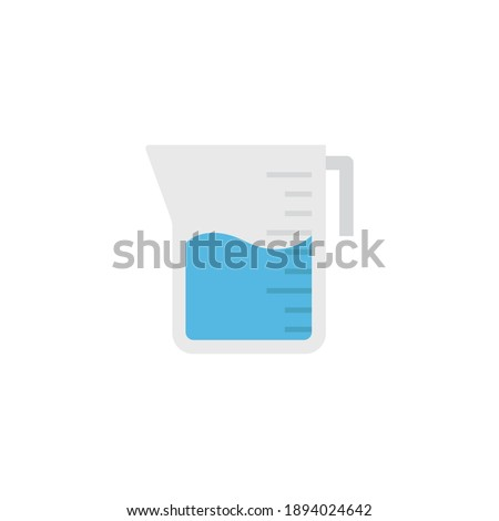 Measuring plastic cup isolated on white background. Vector cartoon close-up illustration. Stock photo © Lady-Luck