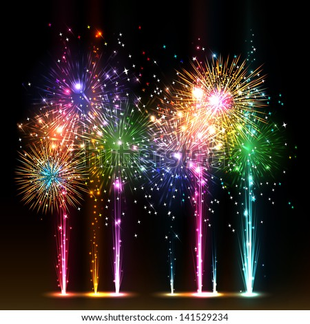 Firework Vector. Bursting Explode Backdrop. Isolated On Transparent Background Realistic Illustratio Stock photo © pikepicture
