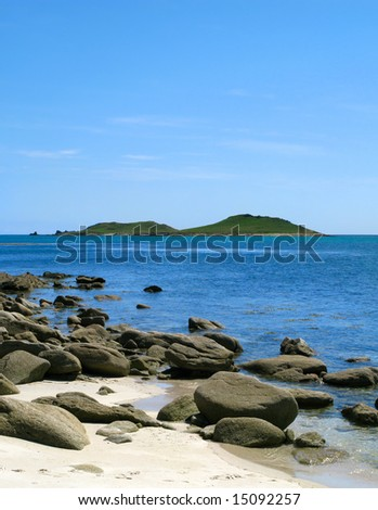 Looking at the Eastern Islands from St. Martins, Isles of Scilly Stock photo © latent