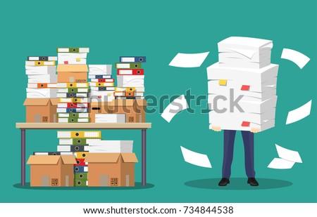 Affaires bureau papiers documents fichier Photo stock © makyzz