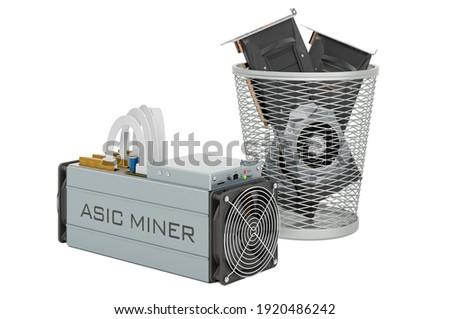 Money into garbage basket on white background. Isolated 3D illus Stock photo © ISerg