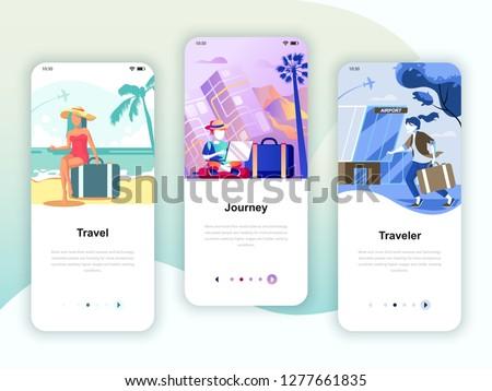 セット ユーザー インターフェース キット 旅行 旅 ストックフォト © makyzz