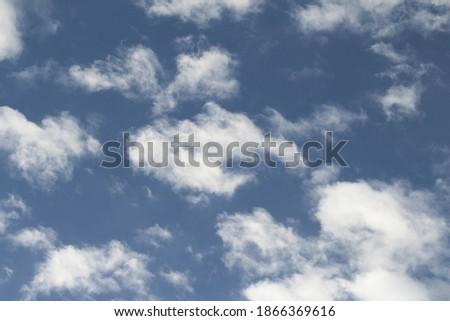 branco · nuvens · cinza · blue · sky - foto stock © amok