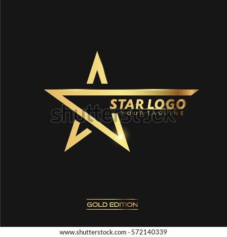 Sterne logo Vorlage isoliert schwarz Business Stock foto © kyryloff