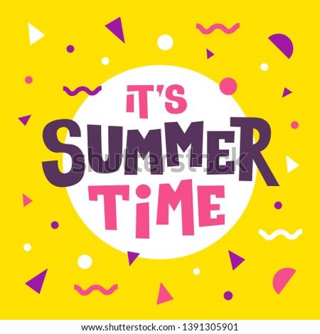 Nyár idő illusztráció tipográfia levél trópusi Stock fotó © articular