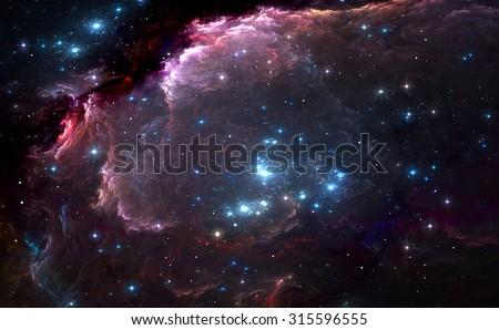 brilhante · estrelas · nebulosa · elementos · imagem · grupo - foto stock © NASA_images