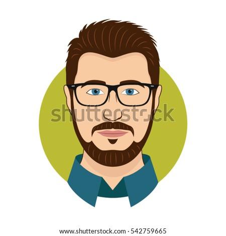 retro · cavalheiro · avatar · retrato · perfil · quadro - foto stock © vector1st