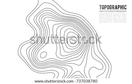 Kaart kleurrijk abstract contour lijnen hoogte Stockfoto © SwillSkill