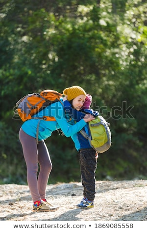 mother with his boy in the forest Stock photo © Lopolo
