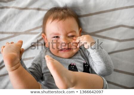 Baby mal di denti home salute triste Foto d'archivio © Lopolo