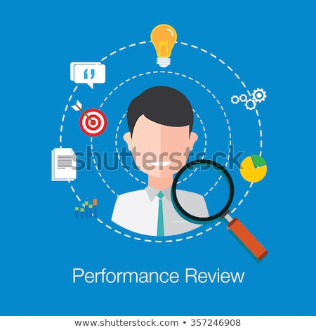 Empregado avaliação empregador reunião trabalho candidato Foto stock © RAStudio