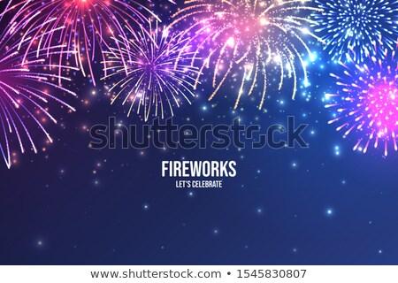 Realista vetor fogos de artifício exibir conjunto brilhante Foto stock © solarseven