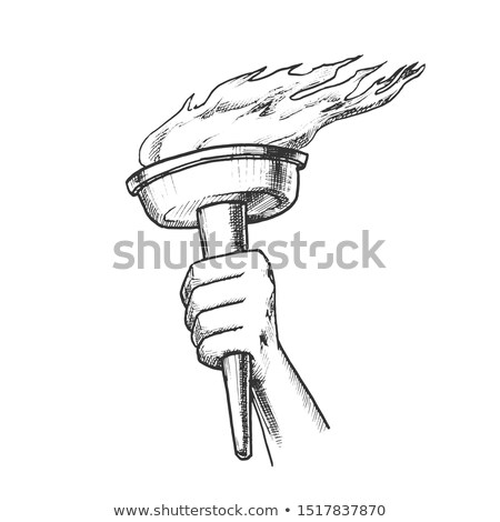 факел стороны сжигание Stick ретро Сток-фото © pikepicture