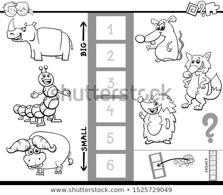 groot · klein · dieren · cartoon · spel · kinderen - stockfoto © izakowski