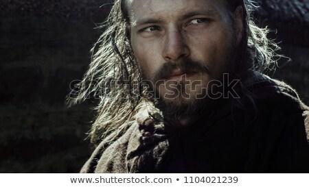 Dapper krijger barbaar zwaard dapper man Stockfoto © jossdiim