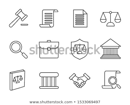 Family in Court Law And Judgement Icon Vector Illustration Stock photo © pikepicture