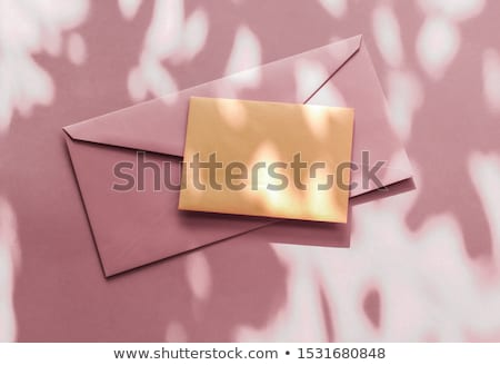 Beauty brand identity as flatlay mockup design, business card an Stock photo © Anneleven