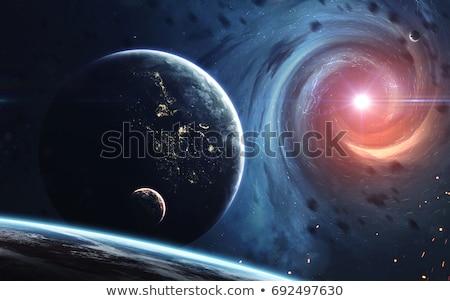 Galaksi uzay güzellik evren kara delik elemanları Stok fotoğraf © NASA_images
