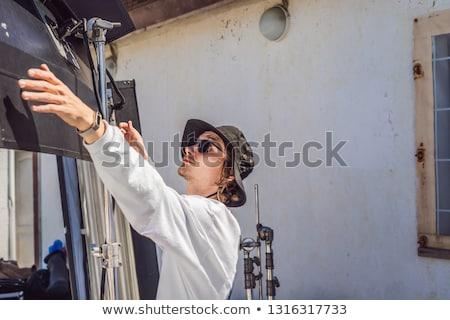 Chef électricien télévision production unité Photo stock © galitskaya