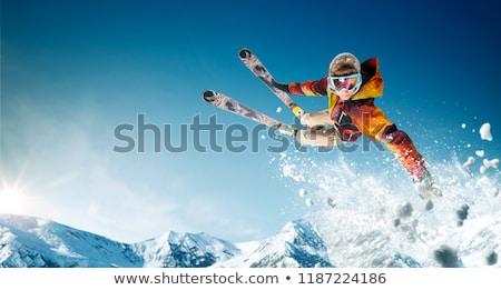 Skieur ski ski Resort hiver activités Photo stock © jossdiim