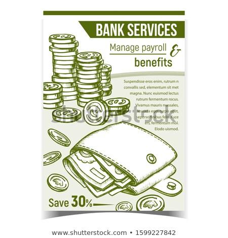 деньги монохромный вектора полный личные Сток-фото © pikepicture