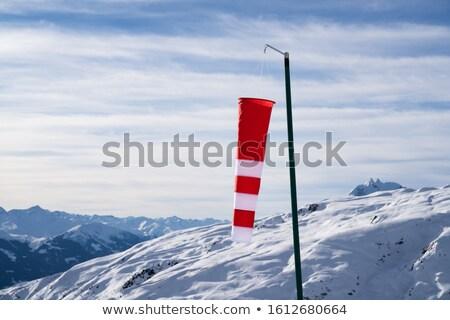 çizgili düşük rüzgâr dağlar gökyüzü imzalamak Stok fotoğraf © AndreyPopov