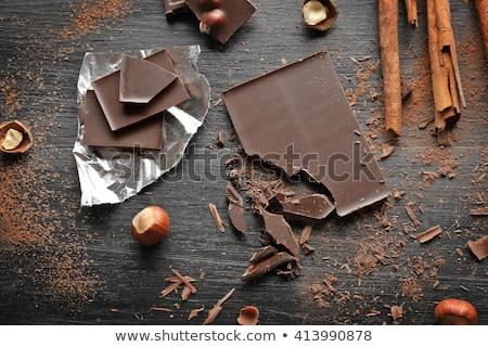 チョコレート ピース シナモンスティック 木製 食品 ミルク ストックフォト © Melnyk