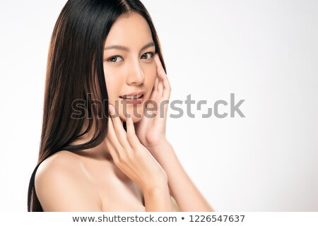 Asya güzel genç kadın portre Stok fotoğraf © posterize