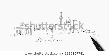 Берлин черно белые силуэта простой туризма Сток-фото © ShustrikS