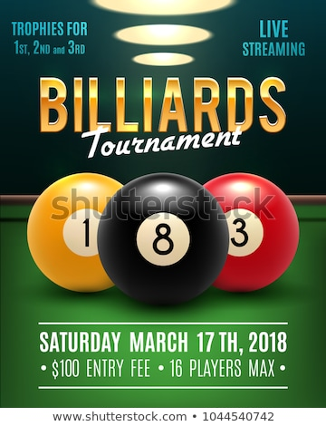 Biljart toernooi illustratie tabel groene grappig Stockfoto © adrenalina