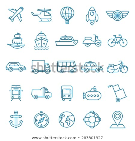 bus taxi icon vector outline illustration Stock photo © pikepicture