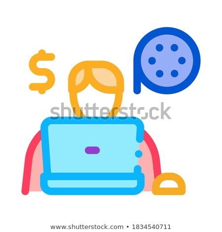 disc sales icon vector outline illustration Stock photo © pikepicture