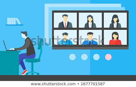 Webinar during quarantine concept vector illustration. Stock photo © RAStudio