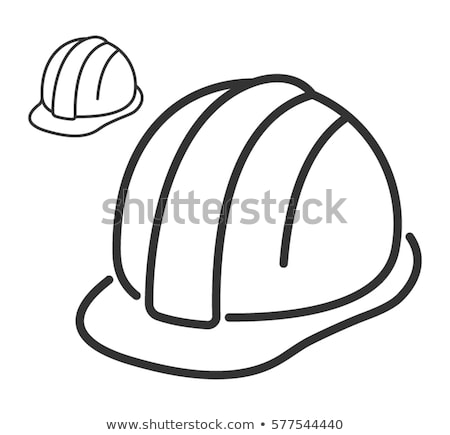 miner worker icon vector outline illustration Stock photo © pikepicture