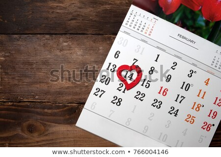Mark February 14th (Valentine's Day) on the calendar  stock photo © johnkwan